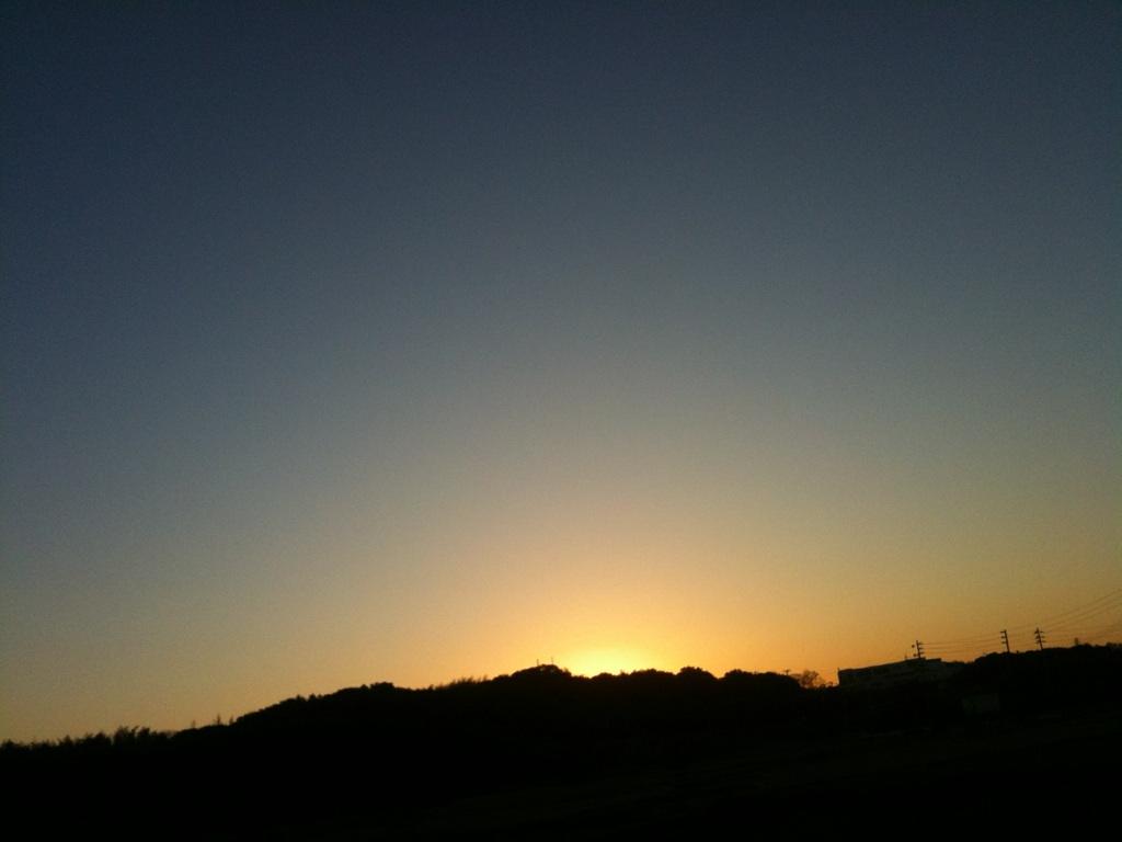 【スローライフ】朝靄の赤は、火星の赤